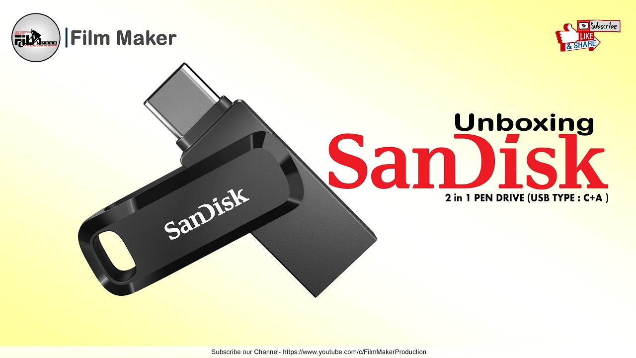 #UnBoxing #SanDisk 2 in 1 #Pendrive (USB Type C & A)