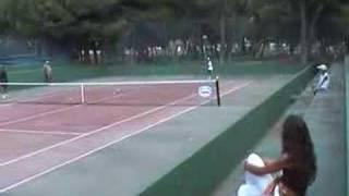 Rafael Nadal training with Zar Lasahido in Mallorca