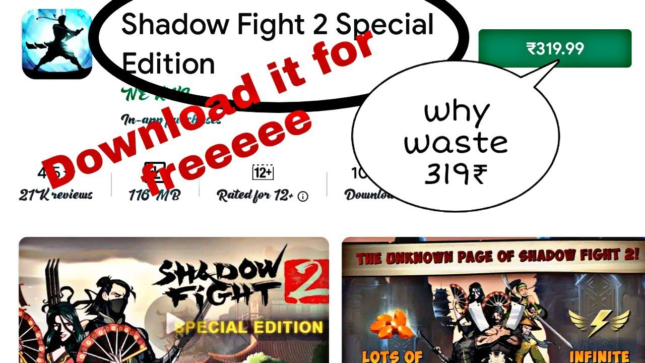 shadow fight 2 special edition free download