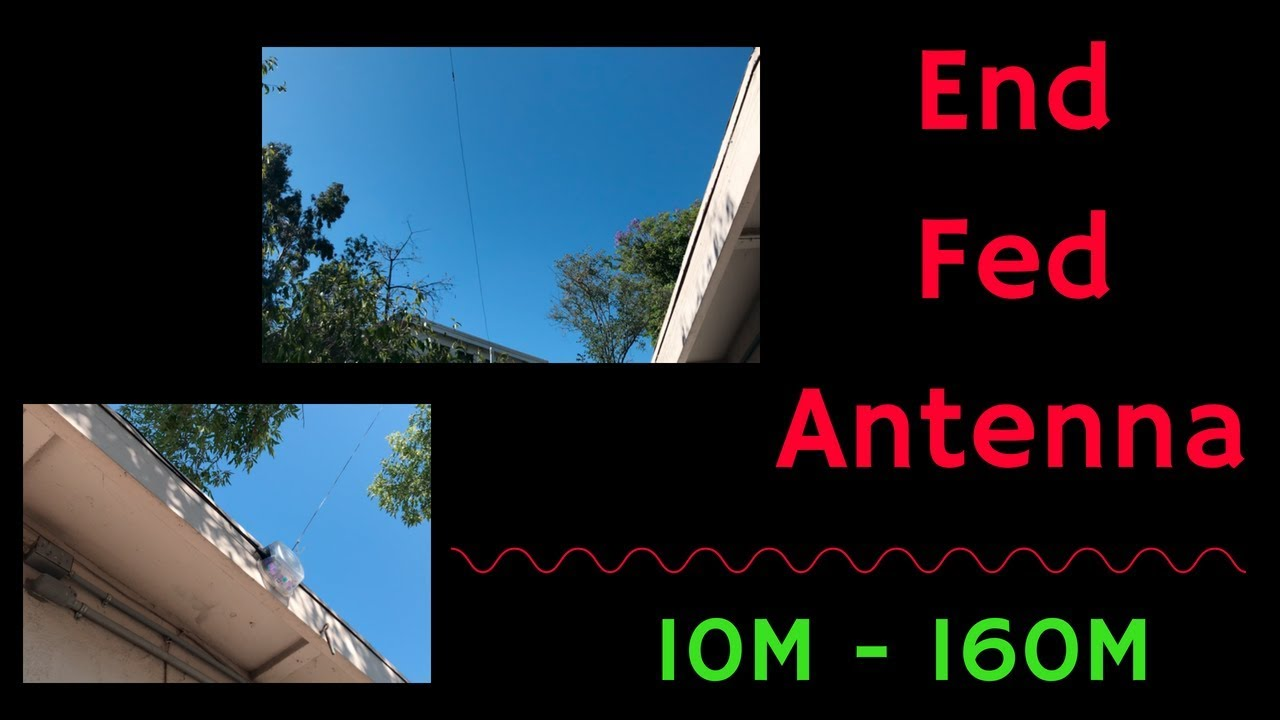 End Fed HF Antenna Multiband Wire Installation / Setup - 10-160M