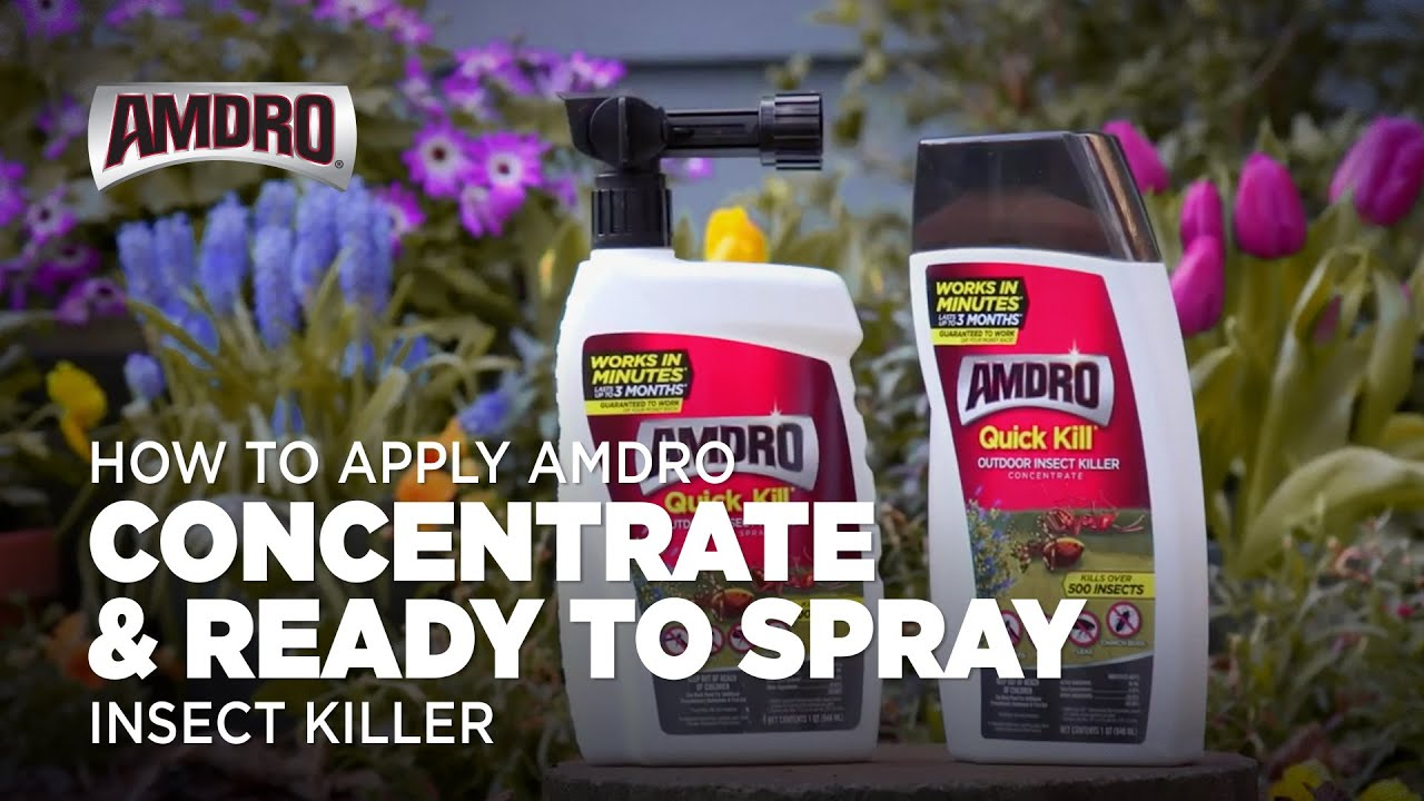 how to apply ready to spray and concentrate liquids youtube