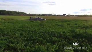 Падение квадрокоптера Dji Phantom! Как НЕ НАДО управлять квадрокоптером! :)