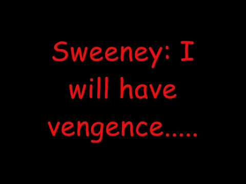 Sweeney Todd - Epiphany Lyrics