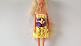 How To Crochet Barbie Dress Motif 2