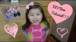 Diy Hair Bow Tutorial - For Clips & Headbands| Babybellykelli