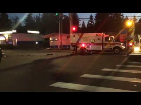 RAW: Serious Motorcycle Crash Everett WA 06-21-2016