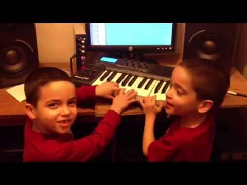 Mc Kana sons in the studio