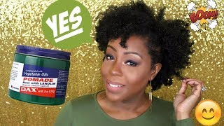 The Best BRAID OUT EVER!! DAX Hair Grease - 4C Natural Hair