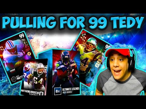 WE PULLED TEDY BRUSCHI ! (ULTIMATE LEGEND PACK OPENING) - MADDEN 17 ULTIMATE TEAM
