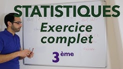 Statistiques - Exercice complet - 3ème