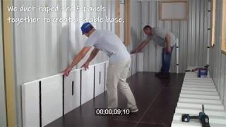 InSoFast Shipping Container CX44 Walls less than 12 minutes