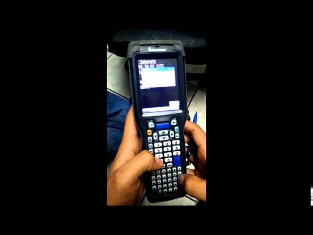 Arturo boullosa factory reset and setup wireless intermec scanner