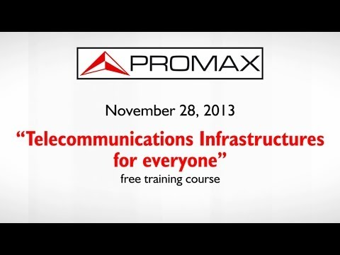 "Free training course ""Telecommunications Infrastructures in buildings"""