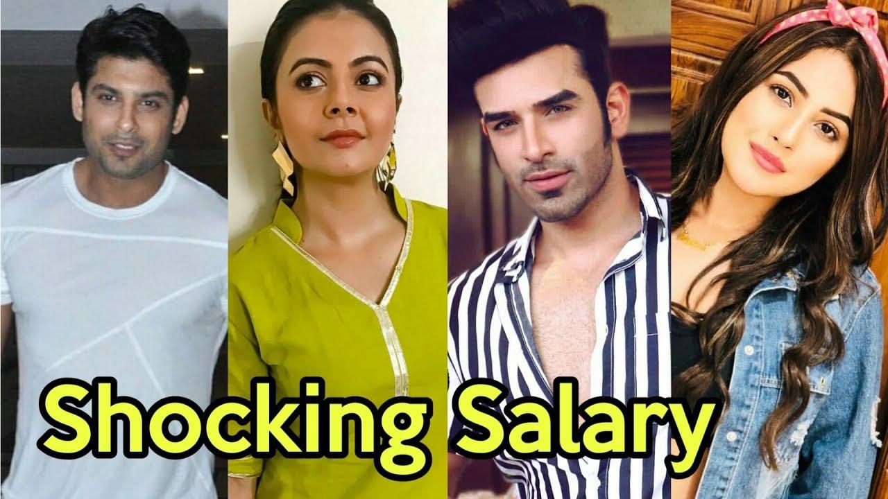 Shocking Salary Of Bigg Boss 13 All Contestants And Host Bigg Boss 13 Devoleena Siddharth Shukla