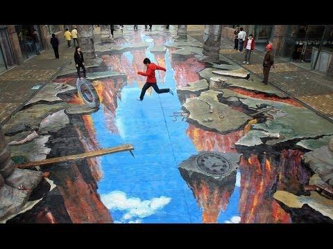 Amazing 3D Street Art Illusion Compilation - YouTube
