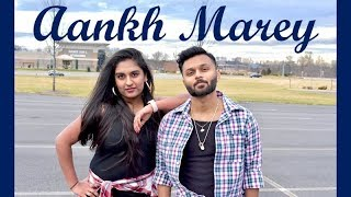 Aankh Marey | Simmba | Bollywood Dance Choreography | Ishika Girish and Soham Shah