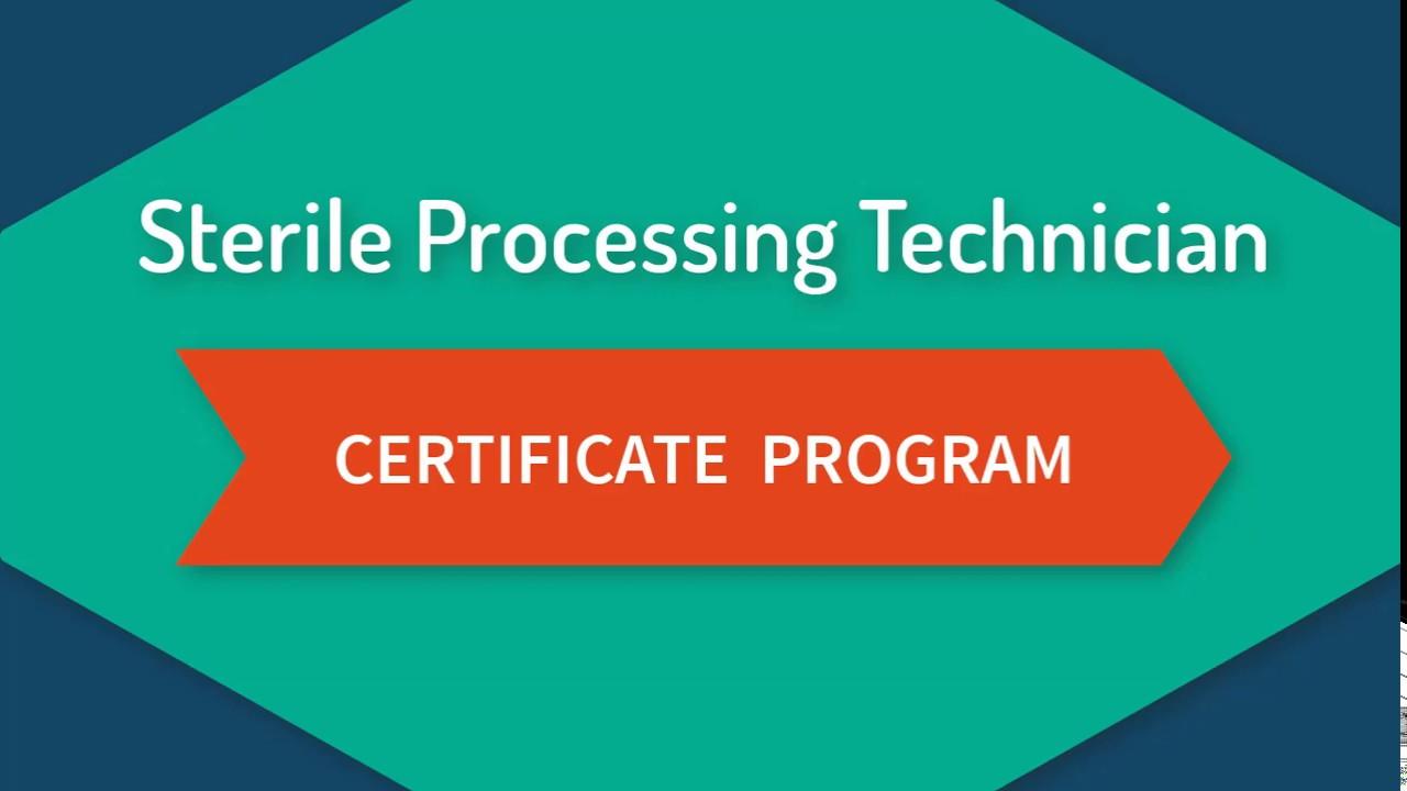 sterile processing technician certification