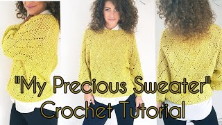 My precious Sweater crochet tutorial