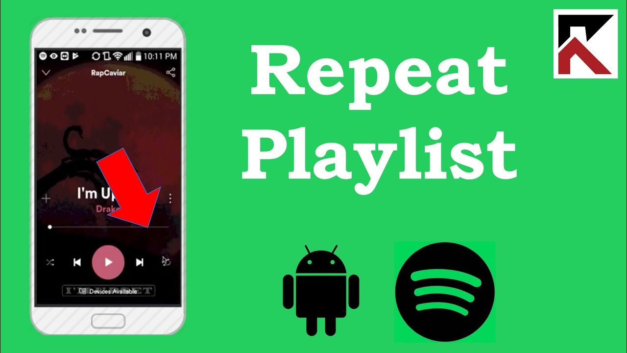 How To Repeat Playlist Spotify Android