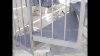 Металлическая винтовая лестница на 2 этажа. Ворота-Сервис Херсон(Металлоизделия в Херсоне , газонные ограждения, заборы из профнастила, заборы из сетки-рабицы, ворота откат..., 2014-05-25T19:06:26.000Z)