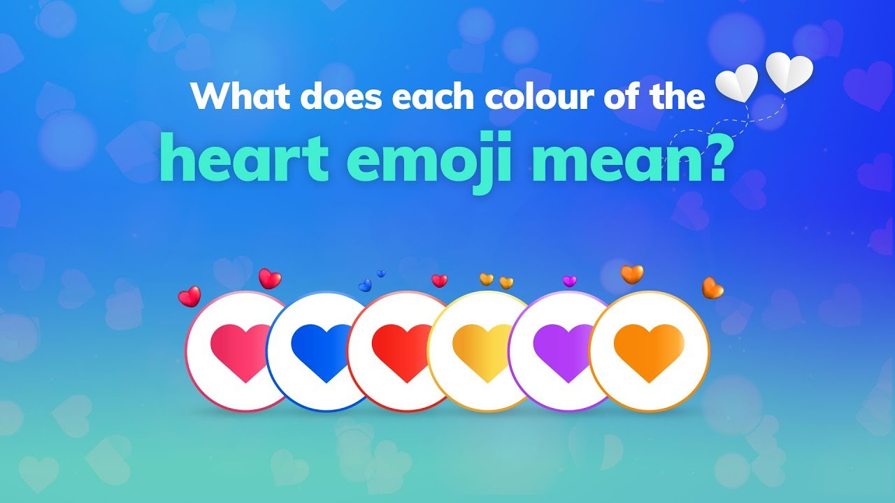 What does each colour of the heart emoji mean