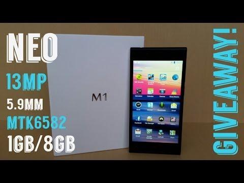 """Neo M1 MTK6582 5.9mm 1GB/8GB 13MP 5"""" 1280x720 - GIVEAWAY!!"""
