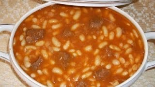 How to make White beans with meat