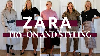 HUGE ZARA HAUL & TRY-ON | AUTUMN COLLECTION ZARA | Lydia Tomlinson