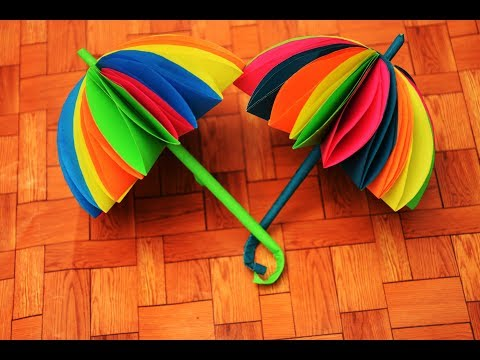 HOW TO MAKE UMBRELLA  | DIY PAPER CRAFTS |  CRAFT SIDE