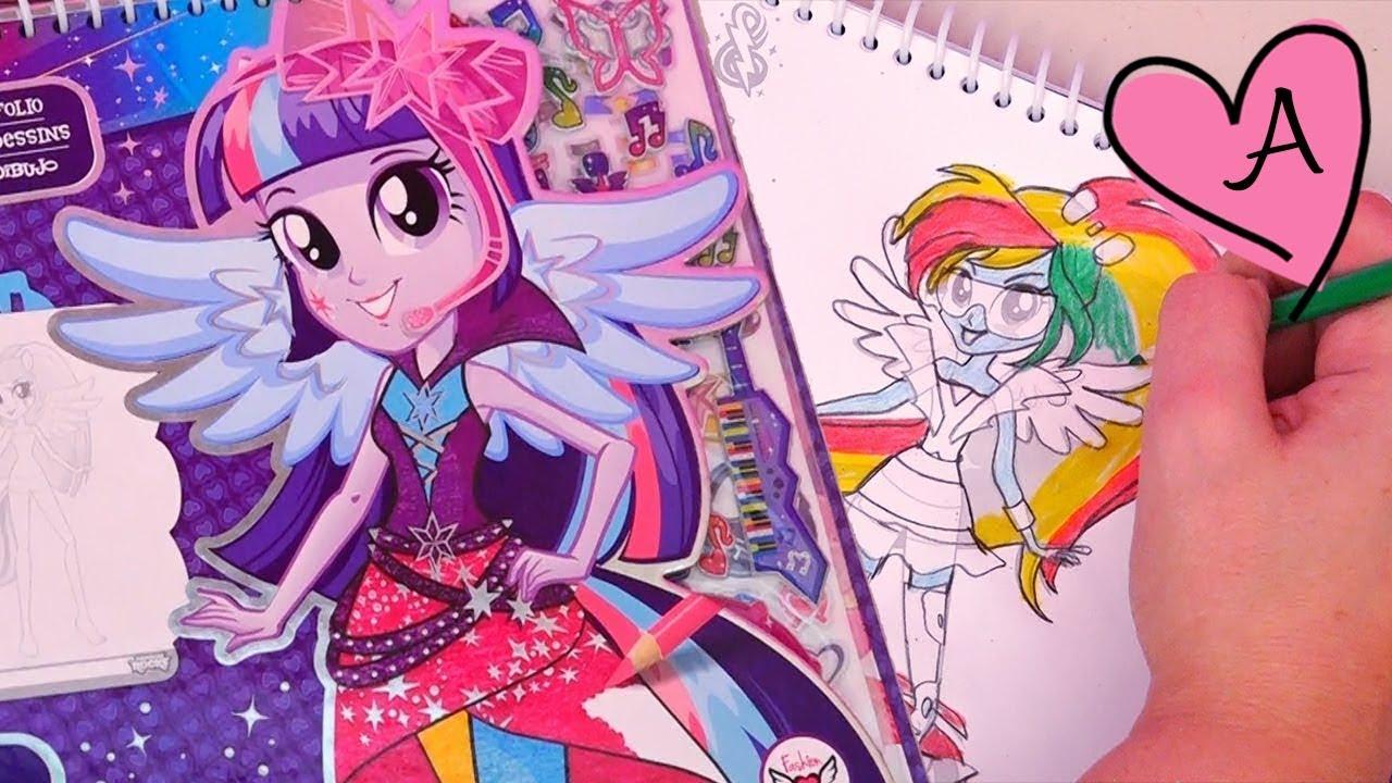 Equestria Girls - Dibujo modas a Twilight, Rainbow Dash, Rarity ...