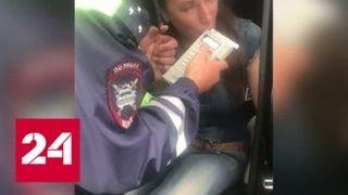 Смотреть видео Пьяная женщина во время погони устроила на МКАДе масштабную аварию - Россия 24 онлайн