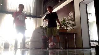 Уроки финтов от Денчика и Сани!!!