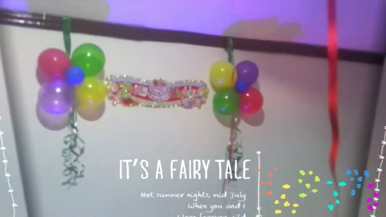 Birthday decoration ideas at home with balloons   YouTube Birthday decoration ideas at home with balloons