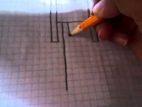 Como dibujar el enderman de minecraft  YouTube
