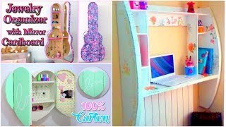 DIY CRAFTS FOR ROOM DECOR! 3 CARDBOARD FURNITURES DIY Room Decorating Ideas for Teenagers
