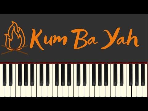 Easy Piano Tutorial: Kum Ba Yah with free sheet music