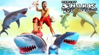 I HAVE A BABY SHARK!! - Hungry Shark Evolution #6 - Big Shark & Little Shark!