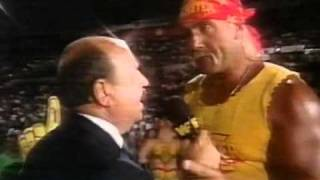1991 09 14 Superstars   Hulk Hogan interview about Ric Flair prelude to SSeries