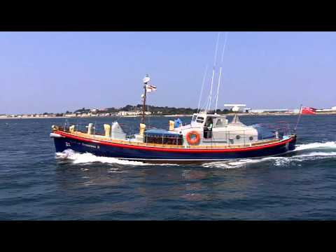 Classic RNLI Lifeboat on its way to St Peter Port, Guernsey