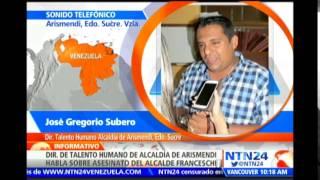 Exigen justicia en Sucre, Venezuela, tras la muerte del alcalde opositor Enrique Franceschi