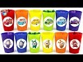 Find Odbots in Color Cup and disney cars Vehicle Play toys funny video for kids