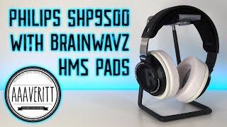 Philips SHP9500 Headphones With Brainwavz HM5 Pads