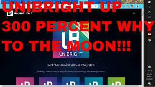 Unibright News UBT Crypto Coin Up 300 percent Why is Unibright rising Unibright Rise Explained