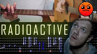 How to play 'Imagine Dragons - Radioactive' Guitar Tutorial [TABS] Fingerstyle