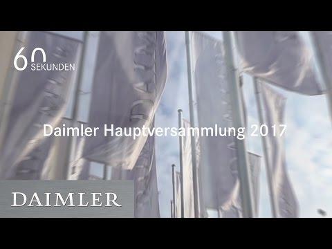 Daimler | 60 Sekunden Hauptversammlung 2017