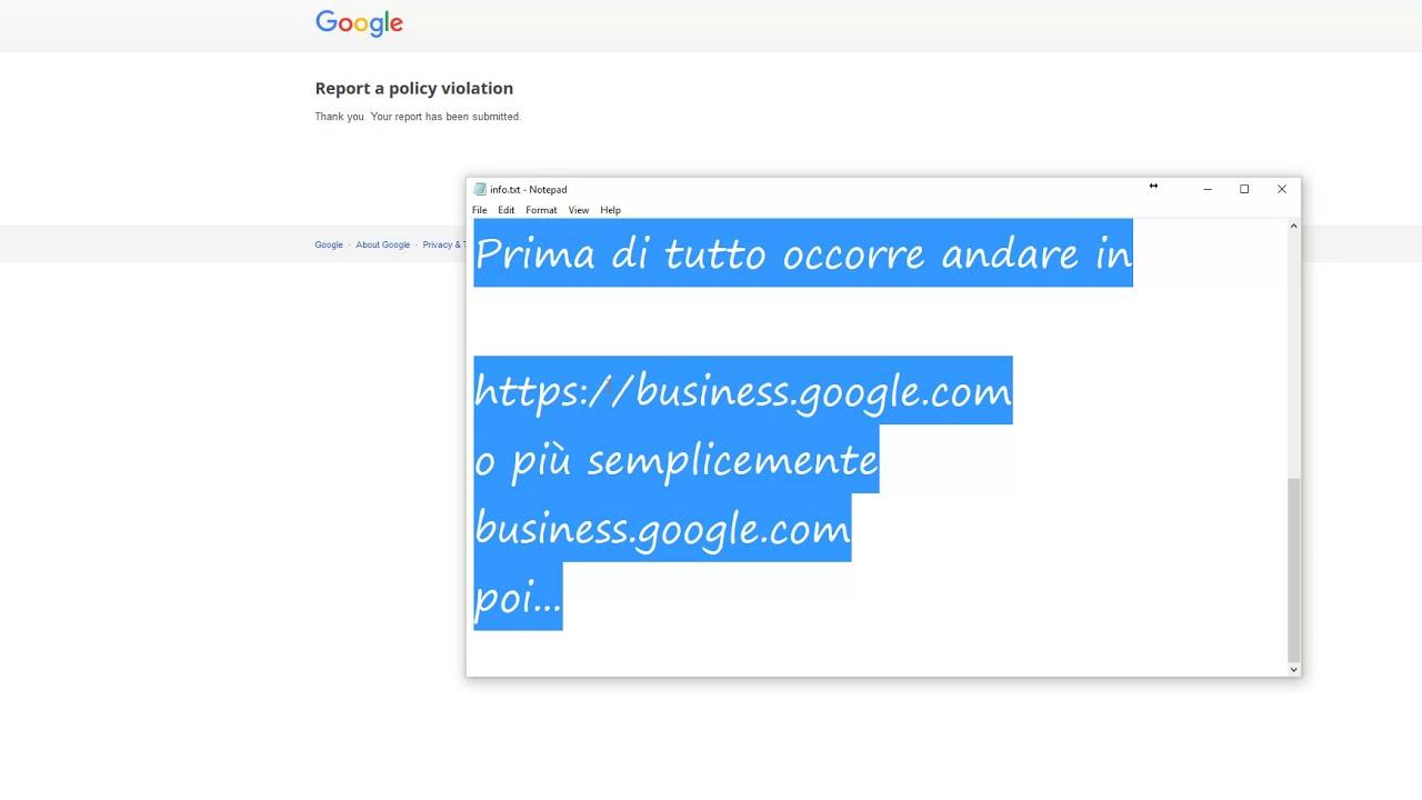 rimuovere le recensioni da Google Maps My Business