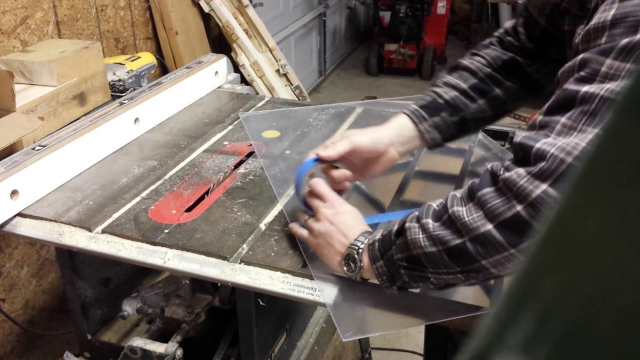 how to cut plexiglass youtube
