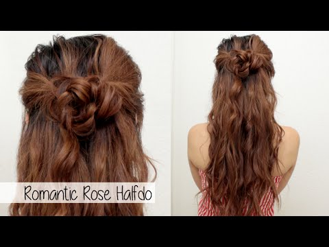 cute-holiday-hairstyle-for-medium-long-hair-l-braided-flower-rose-half-up-half-down-hair-tutorial