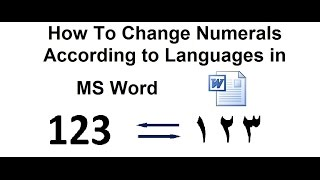 Gambar cover How to Change English Numbers to Arabic Numbers in MS Word ?