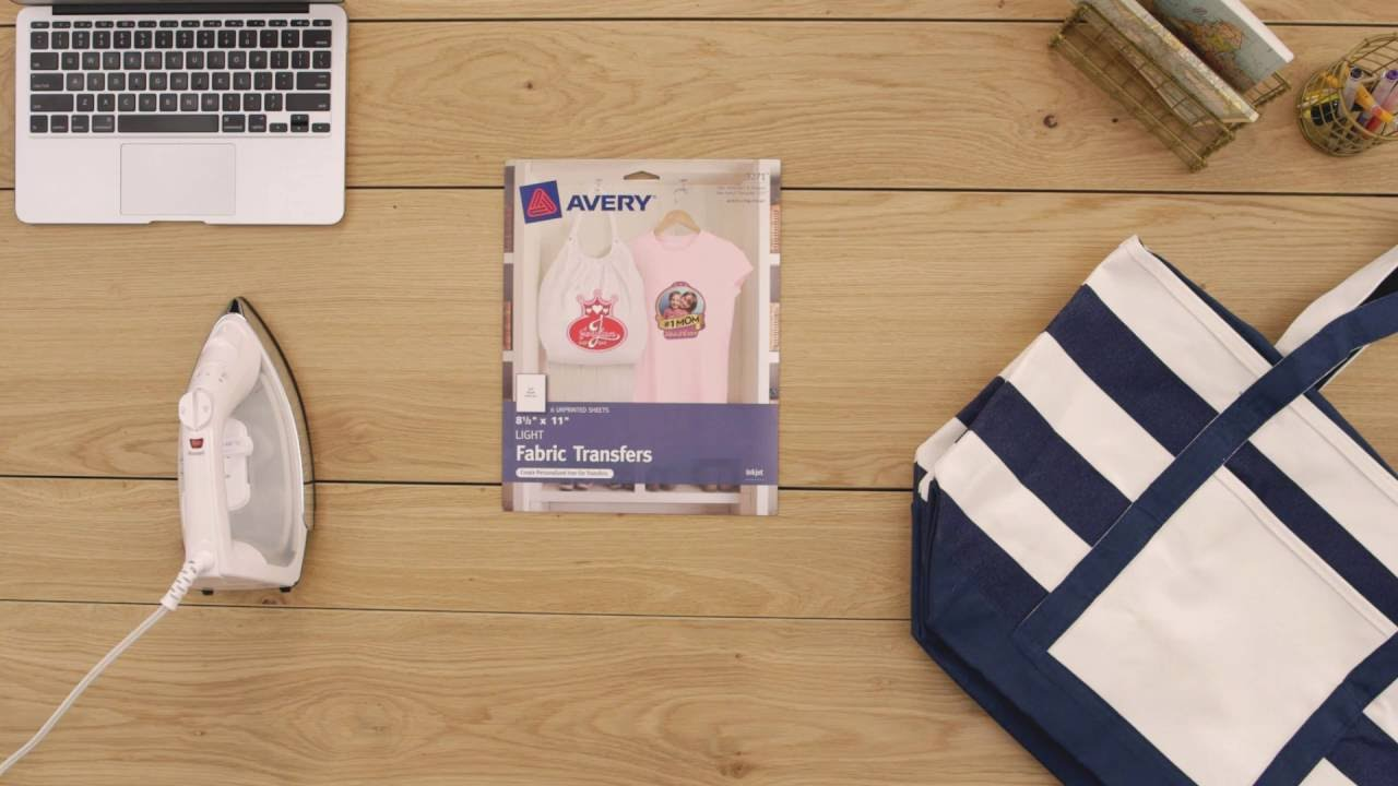 personalize your gear with avery light fabric transfers